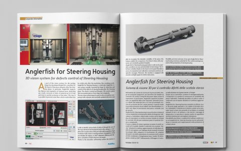 Anglerfish for Steering Housing: 3D vision system for defects control of Steering Housing